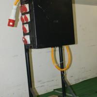 Steckdosenverteiler mit CEE 63 Einspeisung